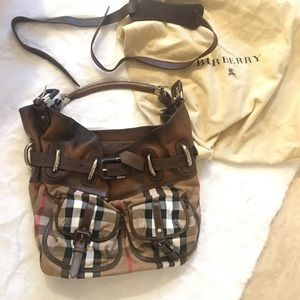 Real leather Burberry bag
